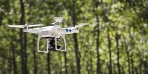 UAV Drone Flying Outdoors