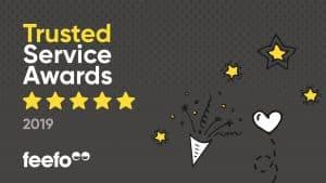Feefo Gold Service Award 2019