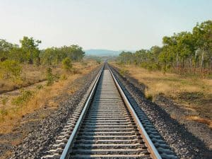 Railway Track in Countryside