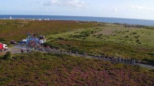 Aerial Shot of Cycle Race