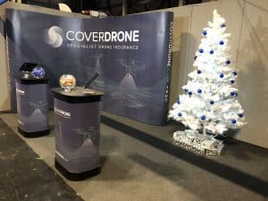 Coverdrone Stand at Drone Show