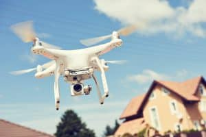 Drone Flying Over Property