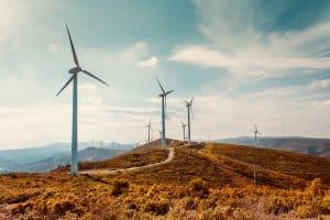 Wind Turbines Within Wind Farm