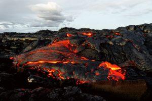 Volcano Pouring Lava