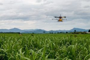 Agricultural Drone Flying Over Field