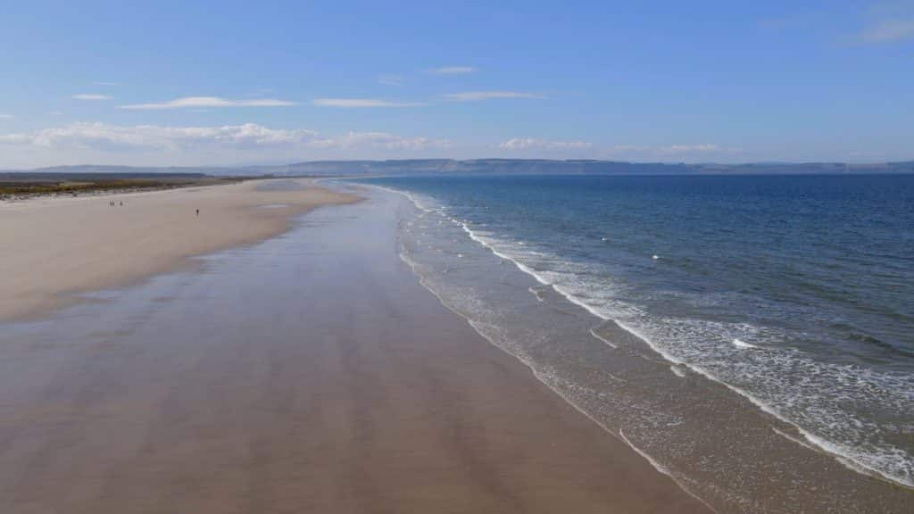 A beach that is at Whitness, Nairn, Scotland