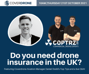 Daniel Dodd Coverdrone Aviation Manager and Coptrz Experts